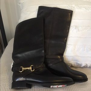 Black Burberry Rider Boots Size 6